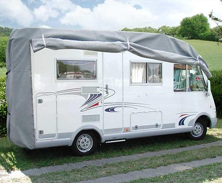 Reisemobil-Schutzhaube L650 x B235 x H270 cm,grau