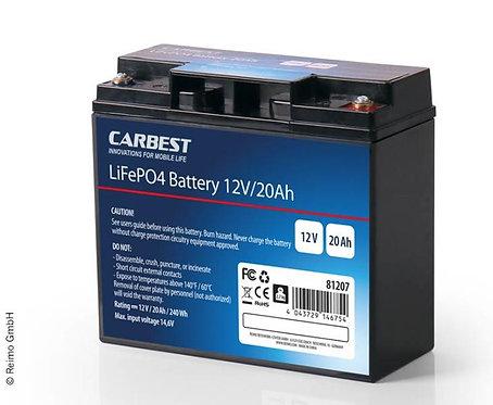 Carbest Lithium-Eisen-Phosphat Batterie (LiFePo4) 12V / 20Ah