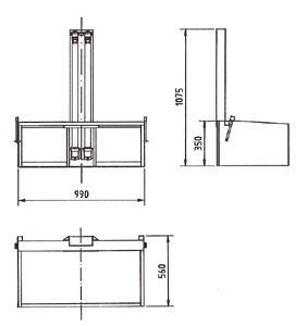 3-Punkt Gurtbock B99 x T56 x H107,5 cm