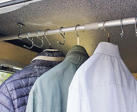 Kleiderstange für Heckgarage, lange Ausführung