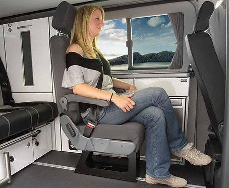 Eurositz A400, Einzelsitz mit integriertem Dreipunktgurt
