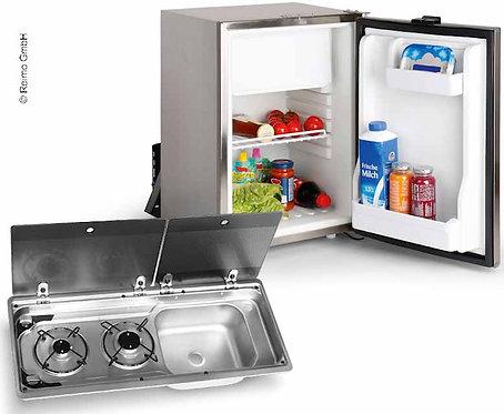 Campingbus-Ausbauset 50 KD - Kocher-Spülen-Kombination & Einbaukühlschrank