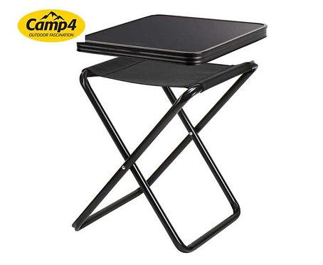 Campinghocker, Tischhocker Pasadena, Camp4, schwarz, belastbar 30kg/100kg