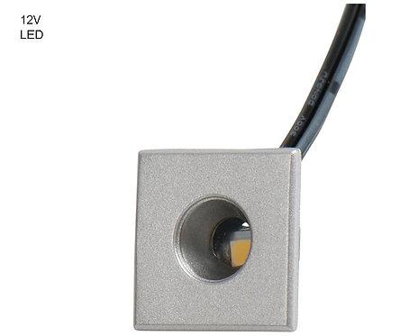 LED 12V Einspot silber, 0,5W, 18x18mm, Höhe 9mm