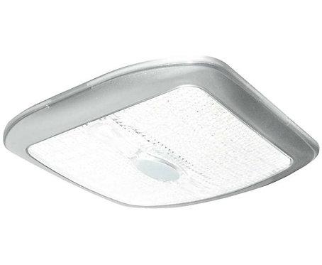 LED 12V Leuchte Quadrat silber, 177x177x20mm
