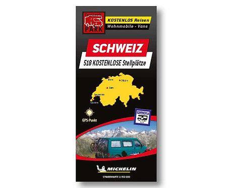 Michelin Stellplatzkarte Schweiz - kostenlose Stellplätze