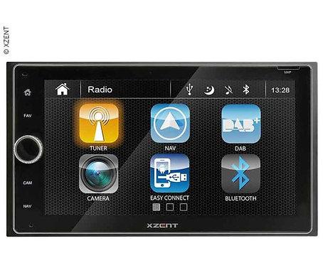 Moniceiver XZENT-X-222 mit DAb+, USB uns Bluetooth