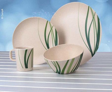 Bambus Geschirr-Set NATURE für 4 Personen