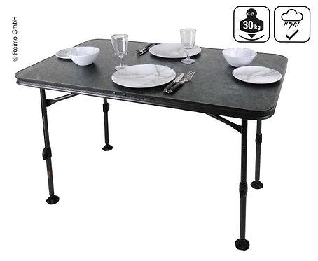 Campingtisch CALAIS STONE 115x70x55-74cm, Gestell:schwarz