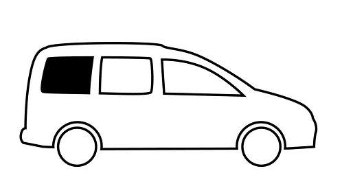 Fenster VW Caddy Maxi hinten rechts, kR, 1044x545mm, starr