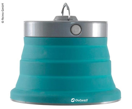 Lampe Polaris, dimmbar, petrol, faltbar Ø20cm, Batteriebetrieb