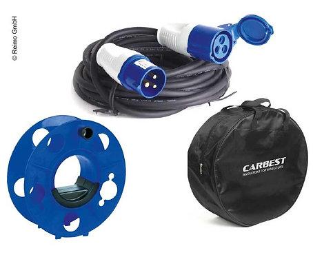 Kabel-Set mit Kabel 3x2,5 mm2, 25m und Kabeltrommel, Kabeltasche