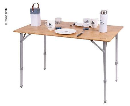 Bambus-Tisch HOLIDAY TRAVEL 80x60x43/65cm Aluminiumgestell