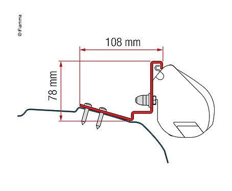 Kit für F35 Pro,Ford Custom-Cap,Coast,Lapland,Caplife, 2H.mit 12cm