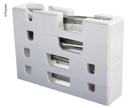 Purvario Besteckeinsatz 4-tlg., stapelbar, Kunststoff, weiß