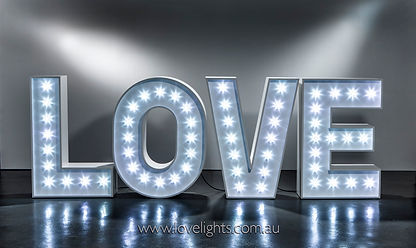 Wedding Reception Decorations - Love Letters