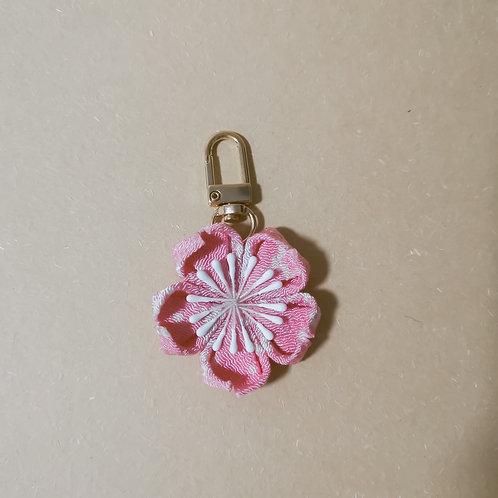 Pink Kanzashi Sakura Charm/Keychain