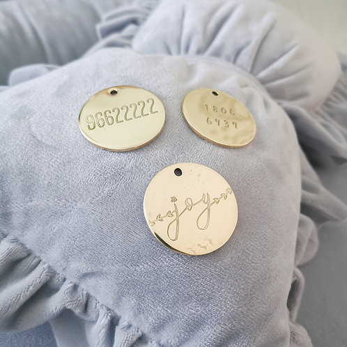 Personalised Brass ID Tag
