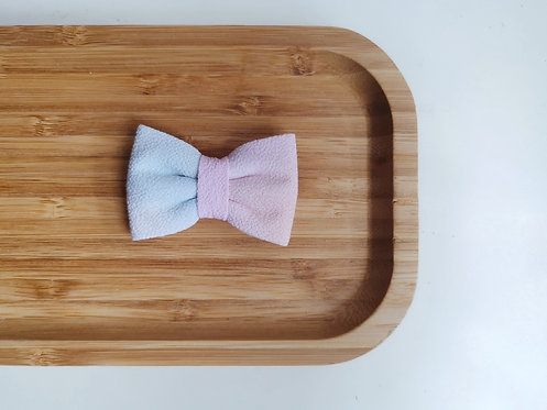 Pink and Blue Watercolour Classic Bow Tie