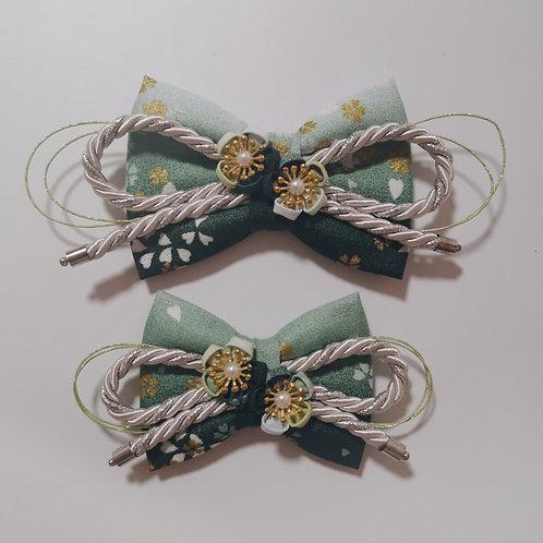 Green Sakura Gradient Kirei Bow Tie