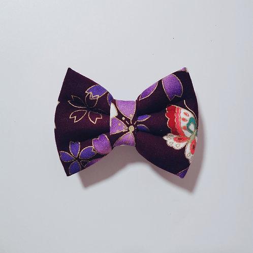 Purple Flower Bow Tie