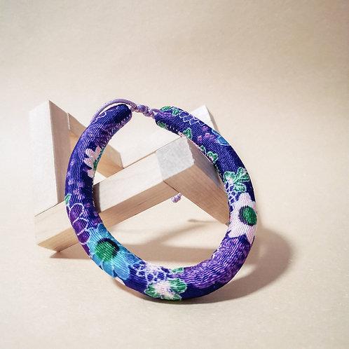 Purple Flower Rope Collar