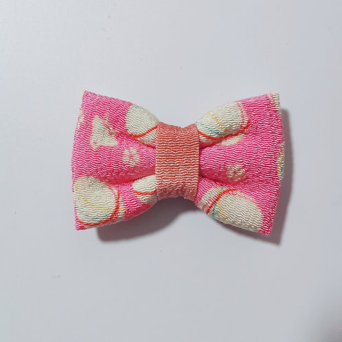 Pink Temari Bow Tie