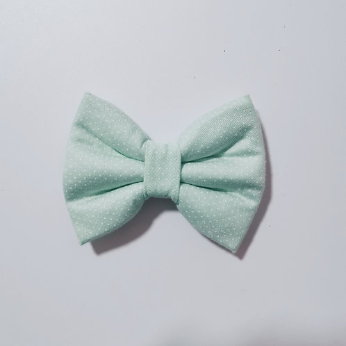 Mint Polka Dot Bow Tie