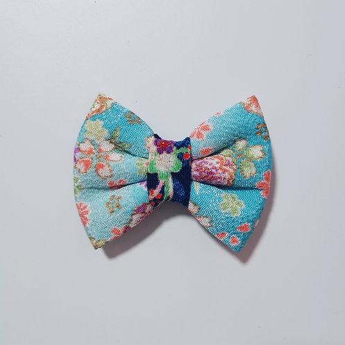 Blue Floral Bow Tie