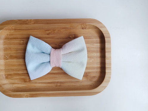 Blue and Yellow Watercolour Classic Bow Tie