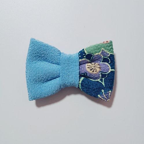 Blue Colour Block 2 Bow Tie