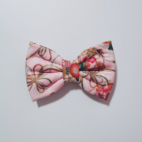 Pink Crane Bow Tie