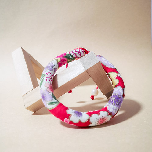 Red Floral Rope Collar