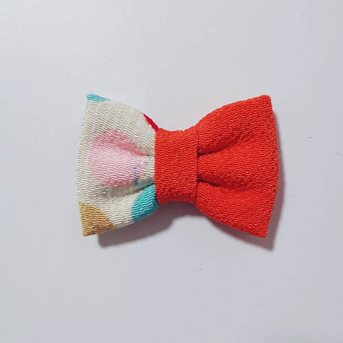 Red Colour Block 3 Bow Tie