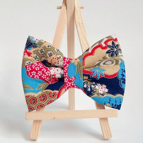 Sakura Kumo Blue Bow Tie