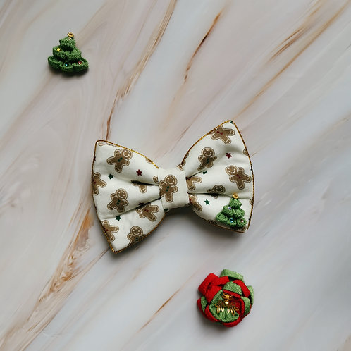 Gingerbread Man Christmas Bow Tie