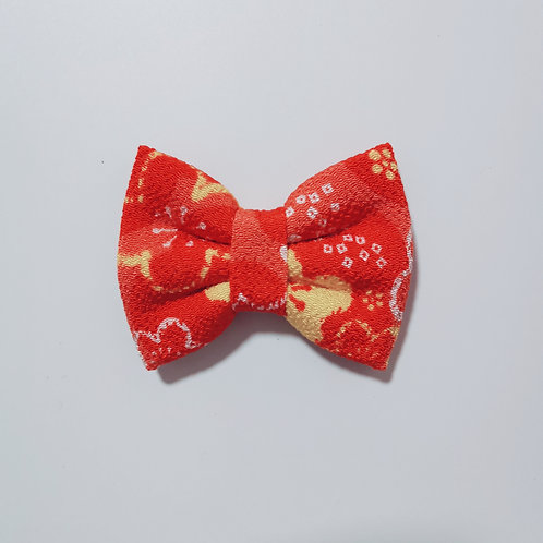 Red and Yellow Floral Bow Tie