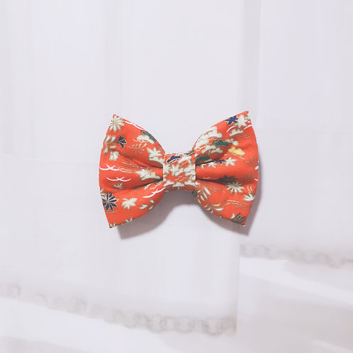 Red Spring Flower Bow Tie
