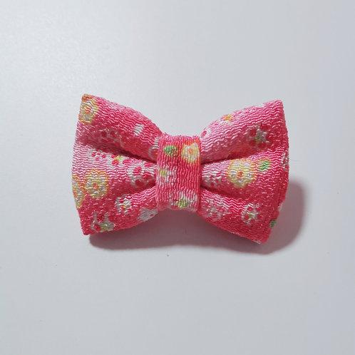 Dark Pink Multifloral Bow Tie