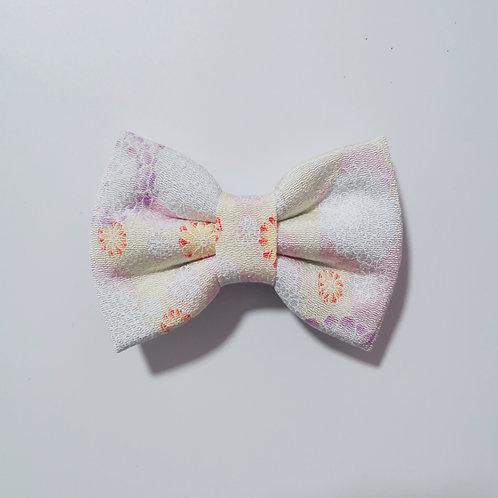 White Chrysanthemum Bow Tie
