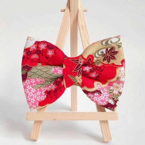 Sakura Kumo Red Bow Tie