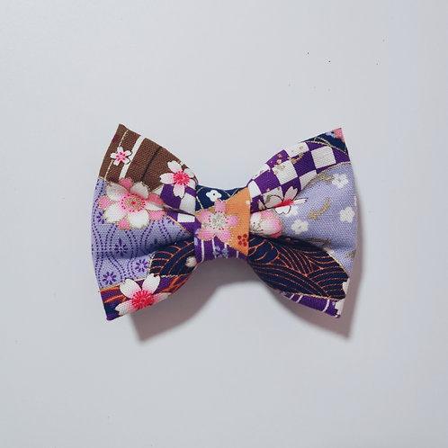 Purple Fan Bow Tie