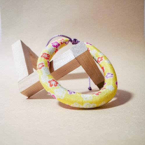 Yellow Multiflower Rope Collar