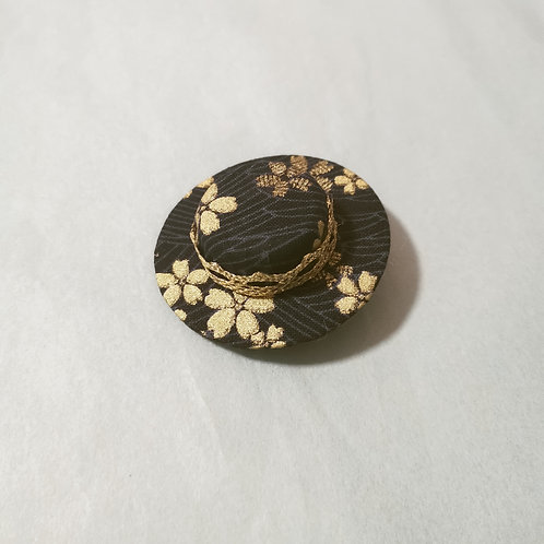 Navy Sakura Waves Hat Clip
