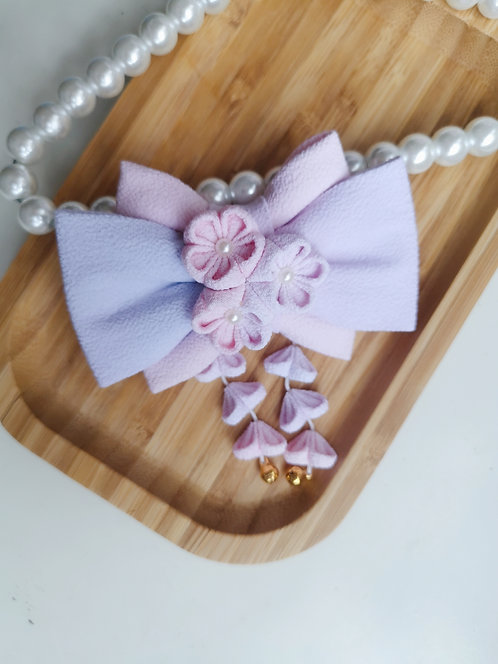Purple and Pink Watercolour Kirei Bow Tie