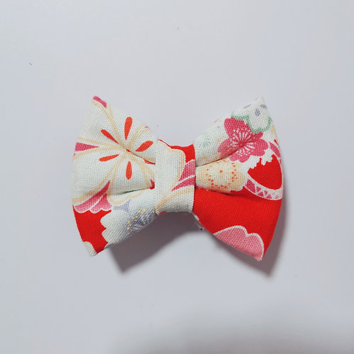 Red Flora Bow Tie