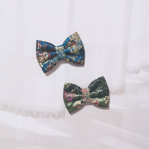 Floral Synth Silk Bow Tie