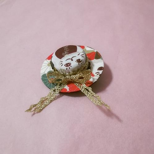 Maneki Neko Hat Clip