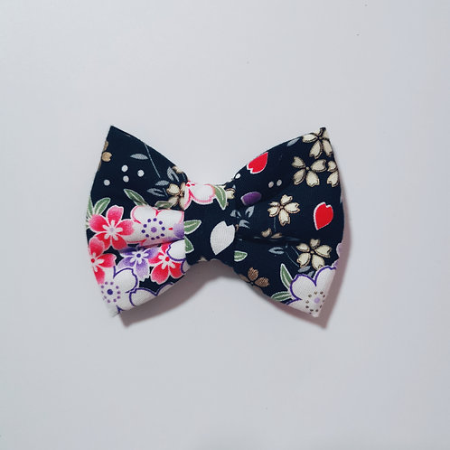Black Floral 1 Bow Tie