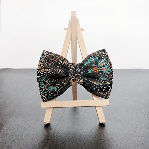 Peacock Synth Silk Bow